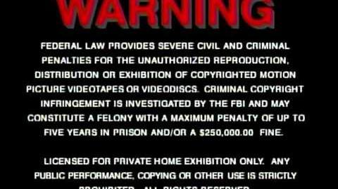 FBI Warning and MGM UA Online Promo