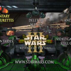 Star Wars: Revenge of the Sith - Disc Two Main Menu Screenshot