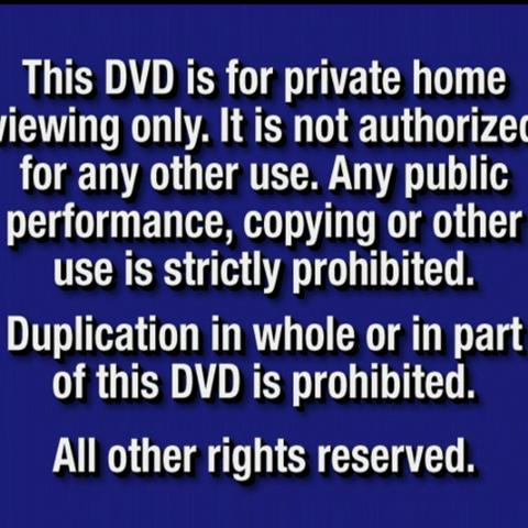 DVD Anti-piracy warning notice
