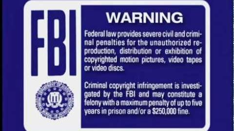 FBI Warnings and Walt Disney Home Entertainment (2001, 5.1 Surround)