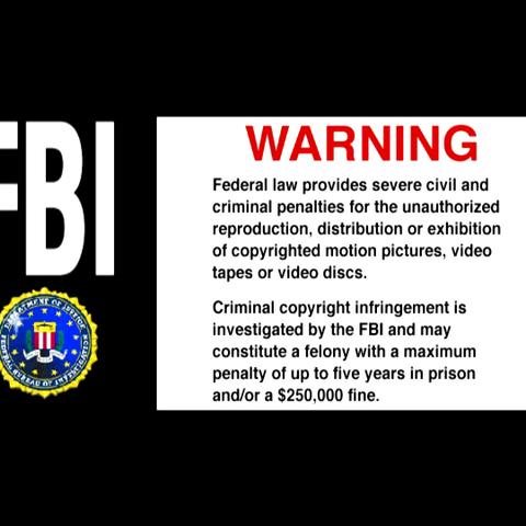 DVD FBI Warning