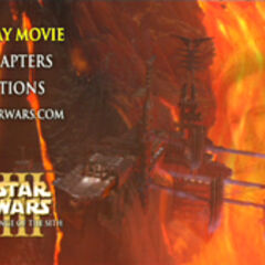 Star Wars: Revenge of the Sith - Mustafar Main Menu Screenshot
