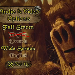 The audio and video preference menu