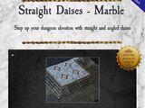 5-STRDM Straight Daises-Marble