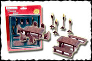 Resin Medieval Furniture Set