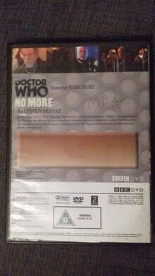 Doctor Who No More DVD back