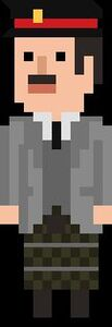 Brigadier Lethbridge-Stewart Pixelated