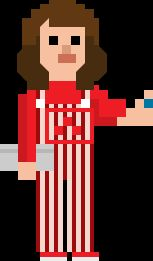 Sarah Jane Smith Pixelated Overalls