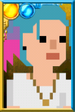 Fan Josie Day Pixelated Portrait