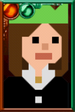 Clara Oswald Pixelated Christmas Paper Hat Portrait