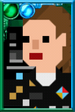 "Dorothy ""Ace"" McShane Pixelated Radio Portrait"