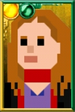 Amy Pond Pixelated Scarf Portrait