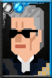 The Twelfth Doctor Pixelated Guitar Portrait