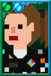 "Dorothy ""Ace"" McShane Pixelated Ponytail Portrait"