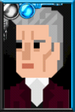 The Twelfth Doctor Pixelated Velvet Suit Portrait