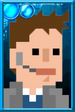 Fan Jack Pixelated Coat Portrait