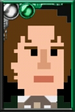 The Eighth Doctor Pixelated Movie Portrait