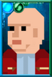 Hydroflax with Nardole Head Pixelated Portrait