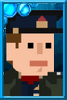 Fan Jack Pixelated Captain Portrait
