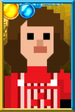 Sarah Jane Smith Pixelated Overalls Portrait