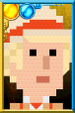 The Fifth Doctor + Pixelated Portrait