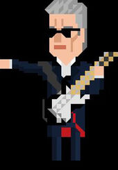The Twelfth Doctor Pixelated Guitar