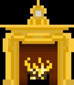 Pixelated Fireplace