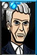 Twelfth Doctor Cartoony Portrait