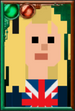 Rose Tyler Pixelated Portrait
