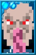 Ood (Blue) Pixelated Portrait