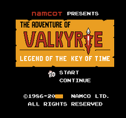 The Legend of Valkyrie title
