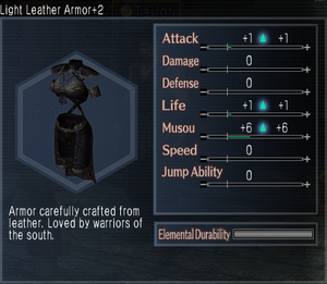 Light Leather Armor +2