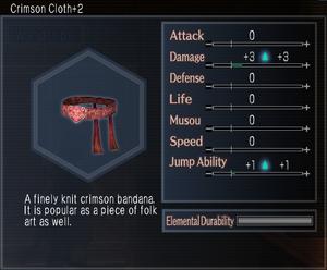 Crimson Cloth +2