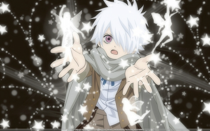 Fairies Anime Boys Scarf White Hair Purple Eyes Tegami Bachi Lag Seeing 1440x900 Wallpaper Wallpaperfo 42