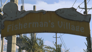 Fisherman's Village entry sign
