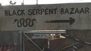 Black Serpent Bazaar's sign