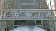 Avryk Hotel sign