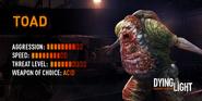 DL Toad Information