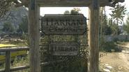 Harran Camping entry sign