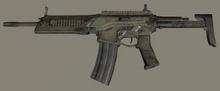Camo Military Rifle