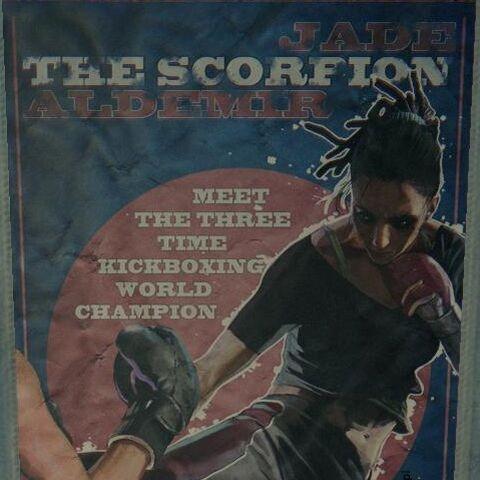 plakat reklamujący walkę Jade