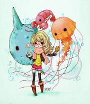Aquatic animals by roy flowers-d7mq3m7
