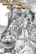 Warlord of Mars 100 B+W Cover Anacleto