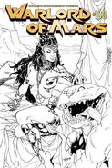 Warlord of Mars 100 B+W Cover Lupacchino