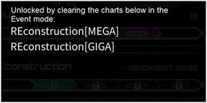Unlocked by clearing the charts below in the Event mode Giga