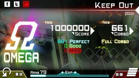 【大嘎】 Keep Out (HARD) OMEGA ALL PERFECT by Player RM-DAGA 【Dynamix】 【手元】