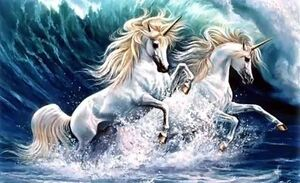 Unicorn water glider