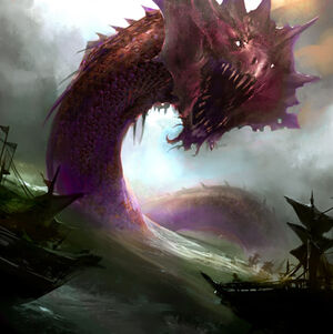 Razor Back Sea Serpent of the Deadly Seas