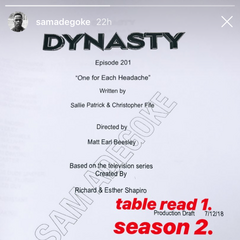 Sam confirmed to be back for Season 2