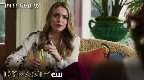 "Dynasty Elizabeth Gillies ""Fallon Carrington"" Interview The CW"